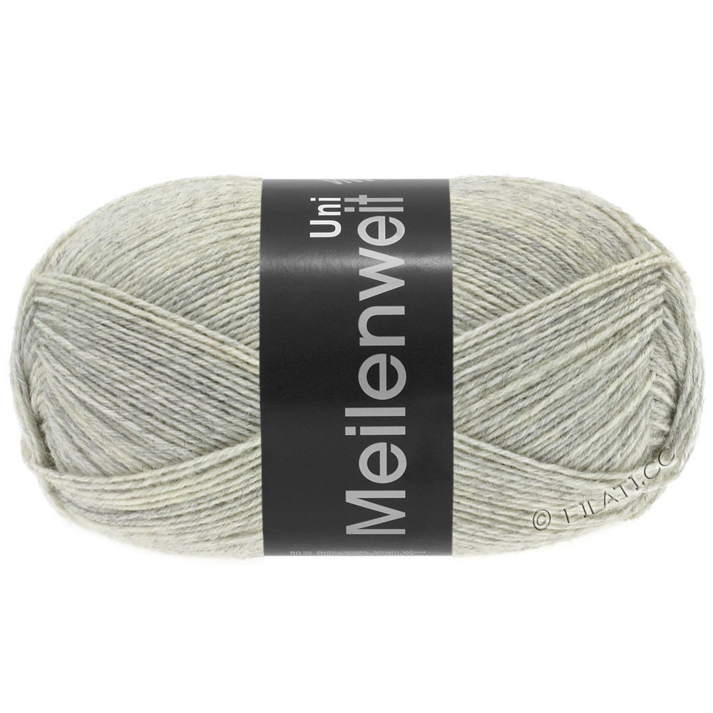 Lana Grossa MEILENWEIT 100g  Uni | 1358-light gray mottled