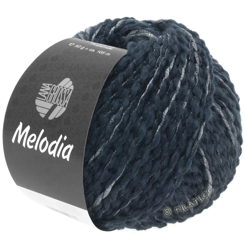 Lana Grossa MELODIA | 07-black blue/silver