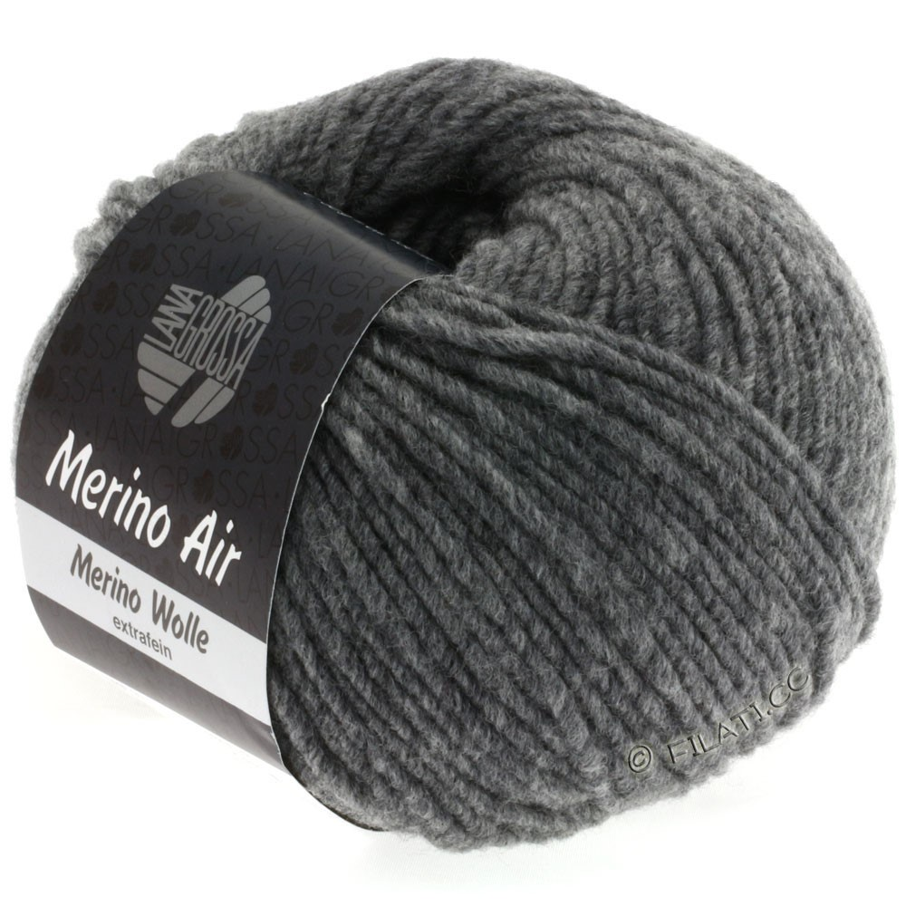 Lana Grossa MERINO AIR | 02-dark gray mottled