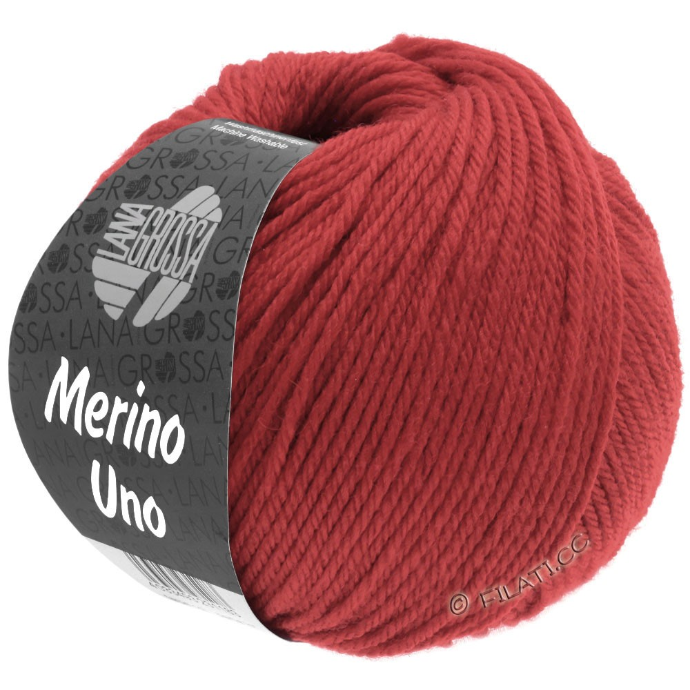 Lana Grossa MERINO UNO | 31-dark red