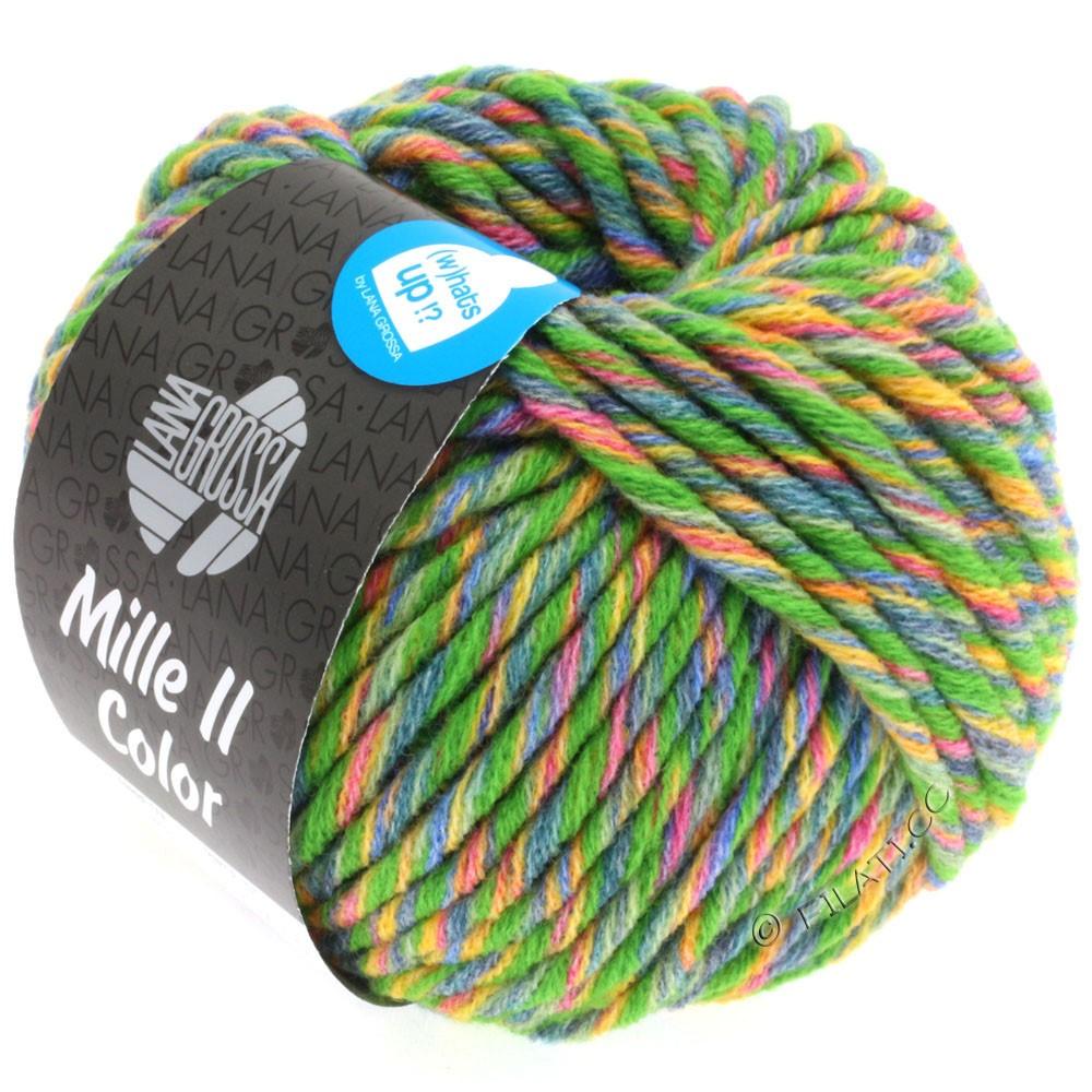 Lana Grossa MILLE II Color/Moulinè | 803-green/yellow/red/jeans/subtle green mottled