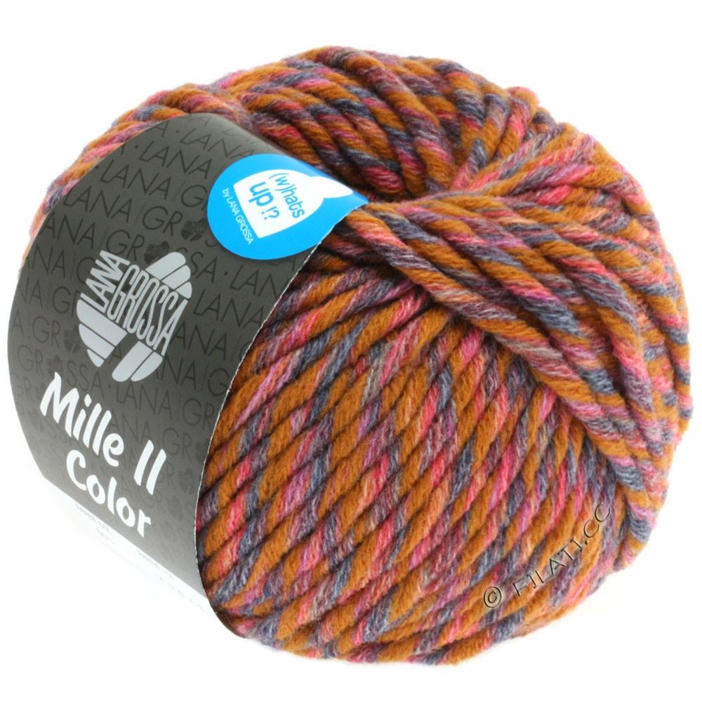 Lana Grossa MILLE II Color/Moulinè | 804-ochre/red/gray/anthracite mottled