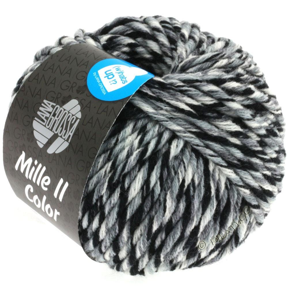 Lana Grossa MILLE II Color/Moulinè | 805-white/gray/black mottled