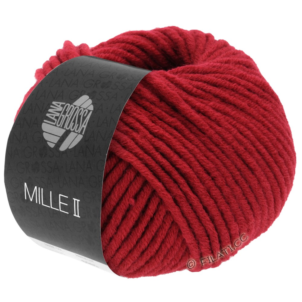 Lana Grossa MILLE II  Uni | 009-wine red