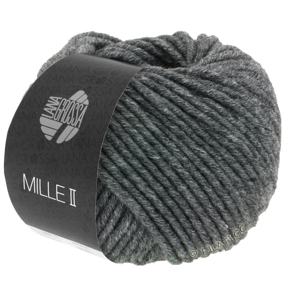 Lana Grossa MILLE II  Uni | 016-dark gray mottled