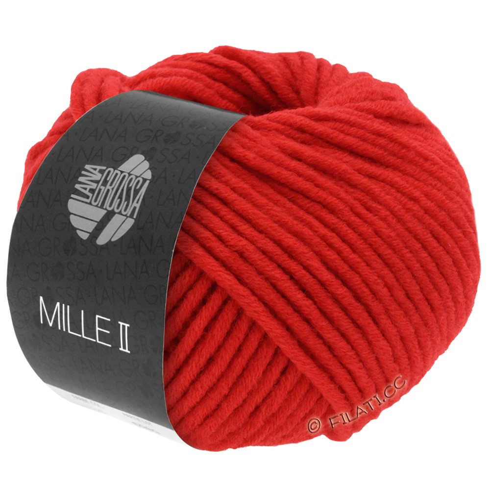 Lana Grossa MILLE II  Uni | 074-bright red