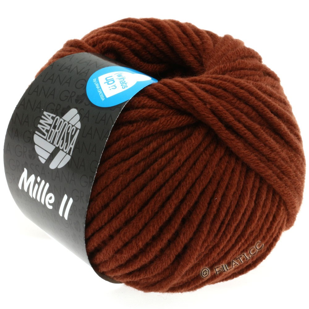 Lana Grossa MILLE II  Uni | 081-red brown