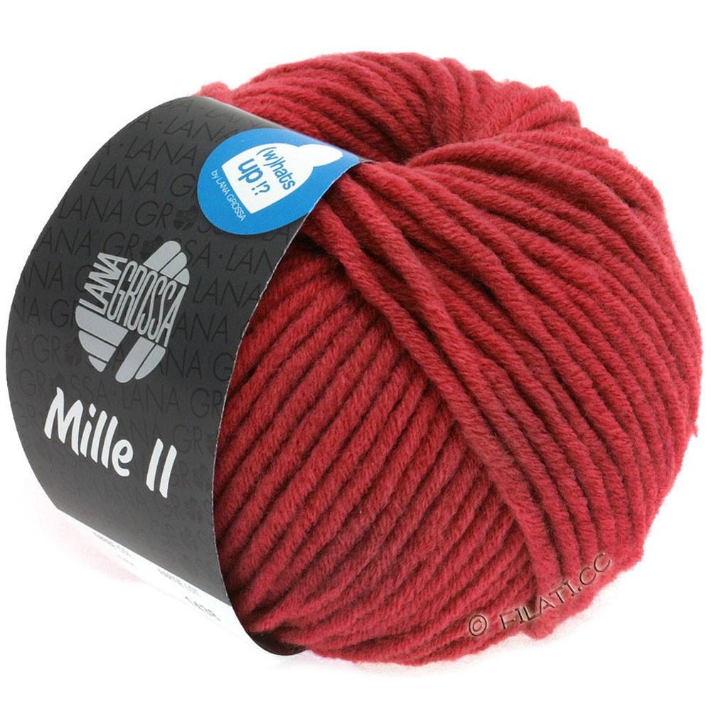 Lana Grossa MILLE II  Uni | 092-carmine red