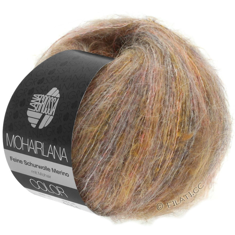 Lana Grossa MOHAIRLANA COLOR | 101-taupe/light orange