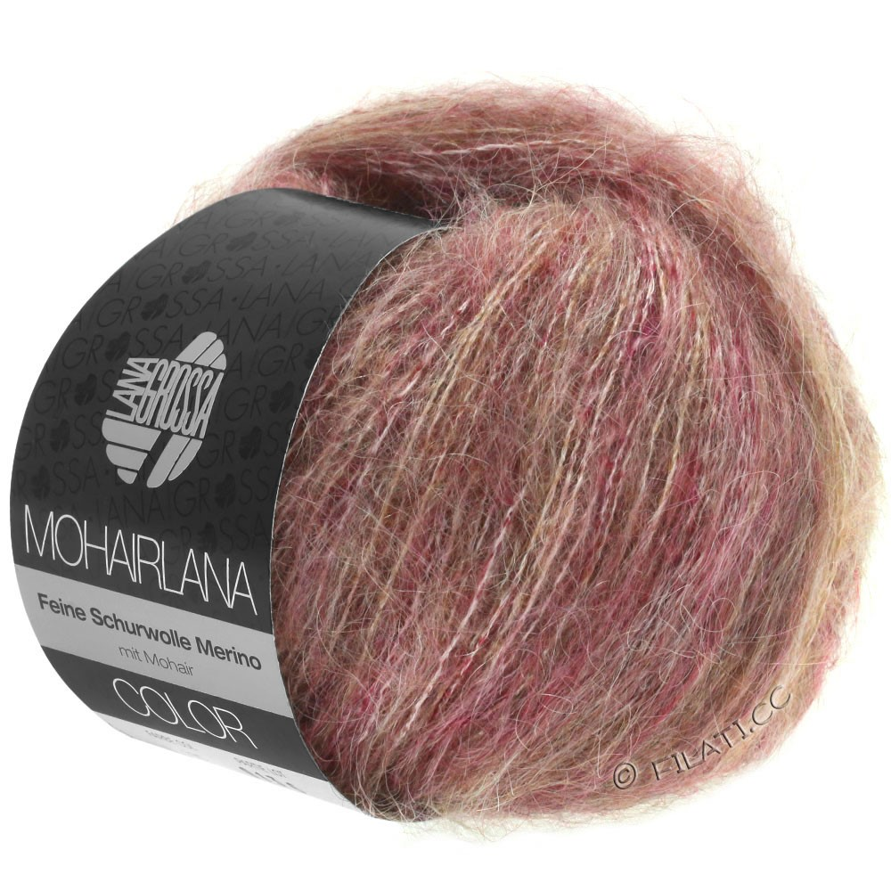 Lana Grossa MOHAIRLANA COLOR | 105-berry/gray brown