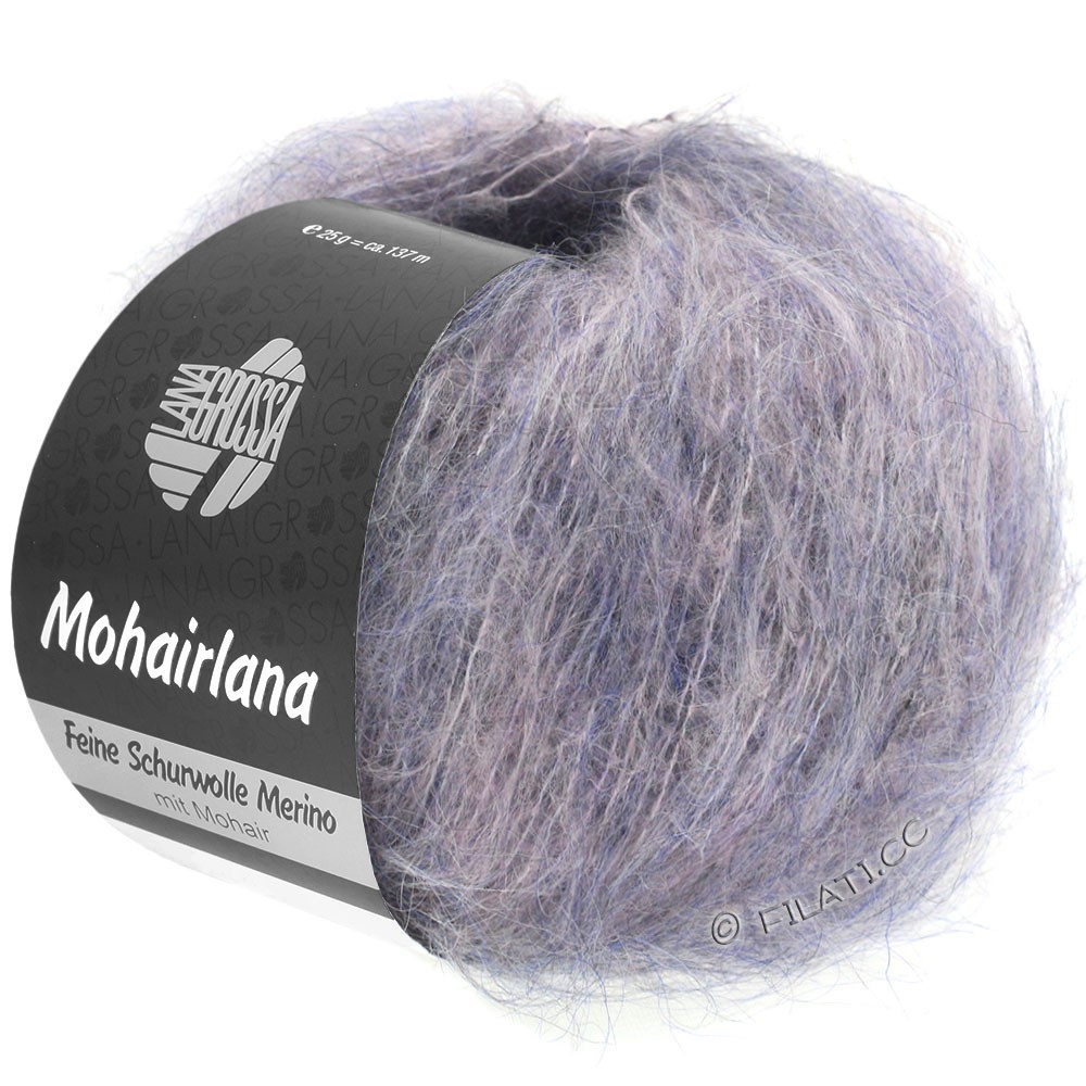 Lana Grossa MOHAIRLANA   02-gray purple