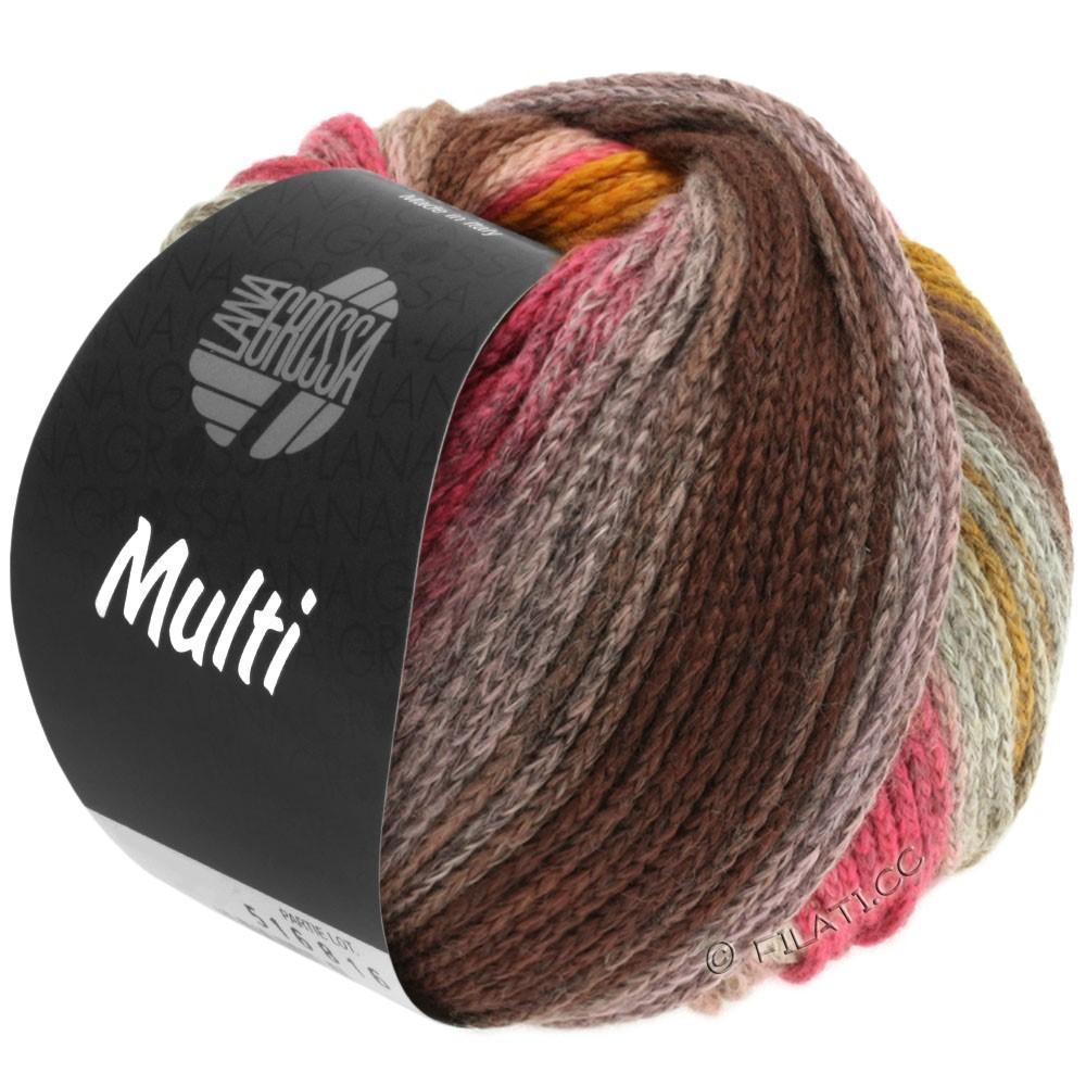 Lana Grossa MULTI | 07-gray brown/orange/pink/rose/yellow