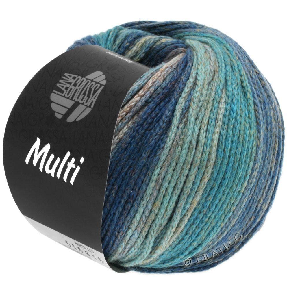 Lana Grossa MULTI | 09-turquoise blue/gentian blue/petrol/gray blue