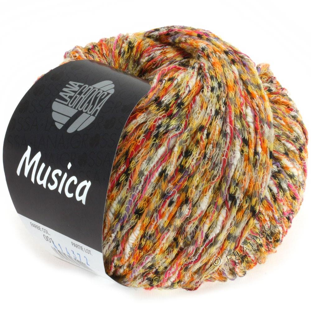Lana Grossa MUSICA | 01-orange/yellow/pink/gray/white