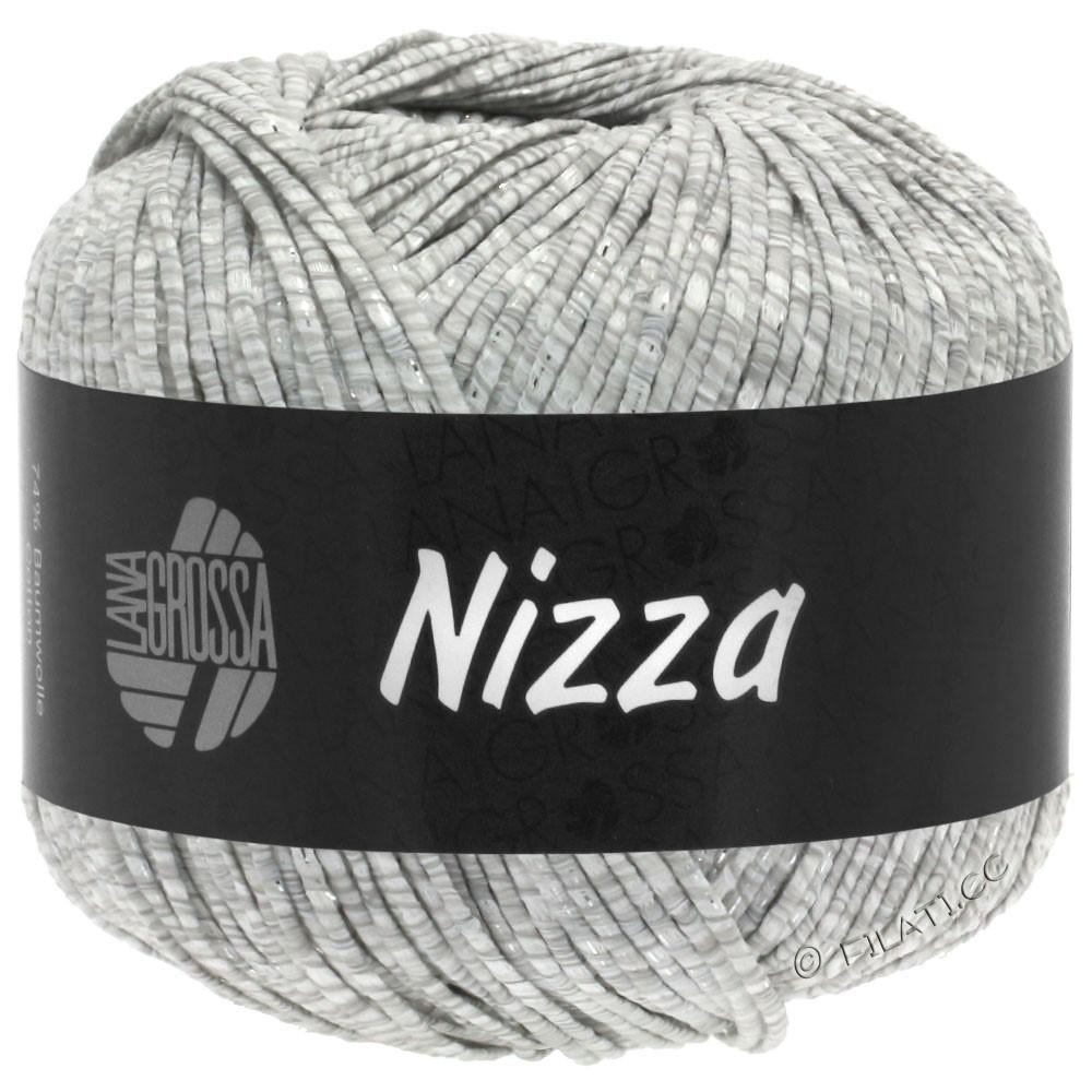 Lana Grossa NIZZA | 01-white/light gray/silver