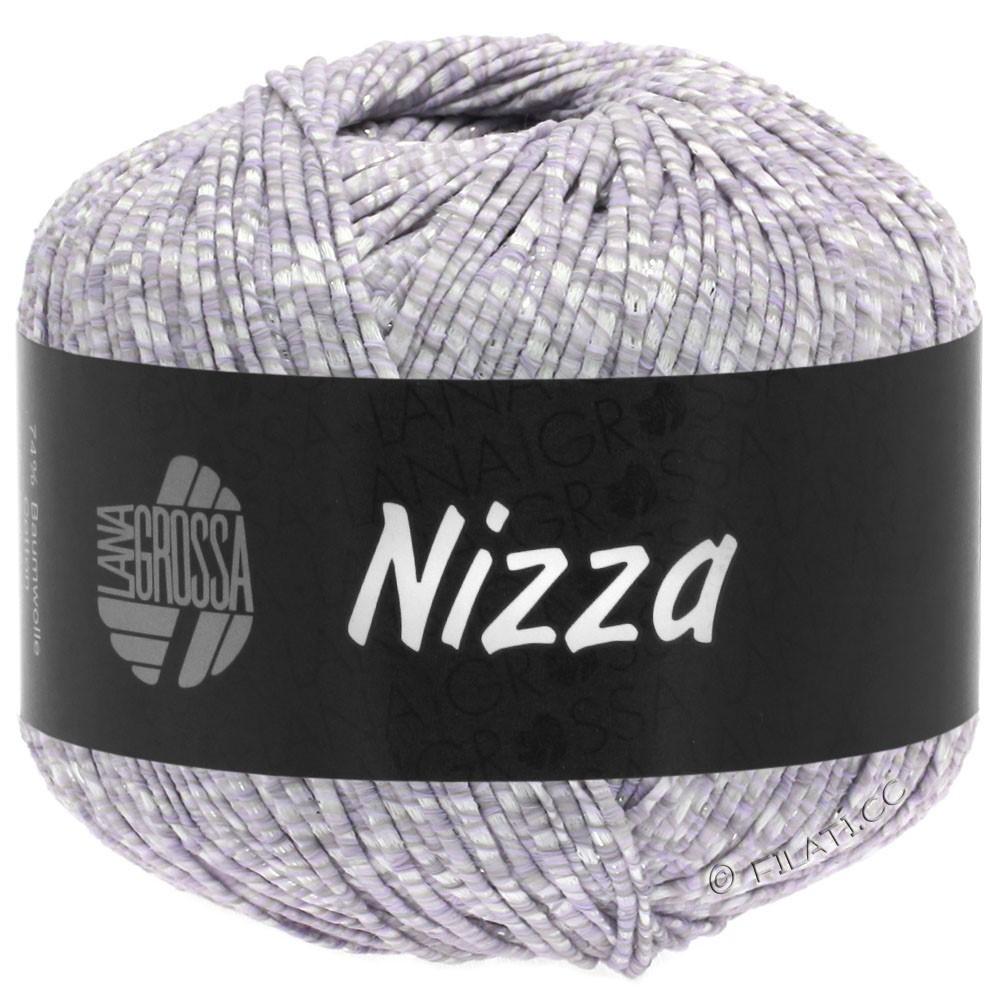 Lana Grossa NIZZA | 02-white/pale lilac/silver