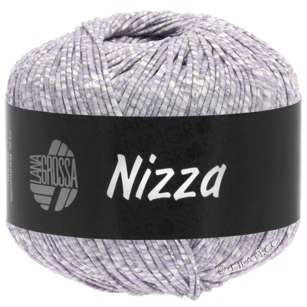 Lana Grossa NIZZA | 02-white/subtle purple/silver