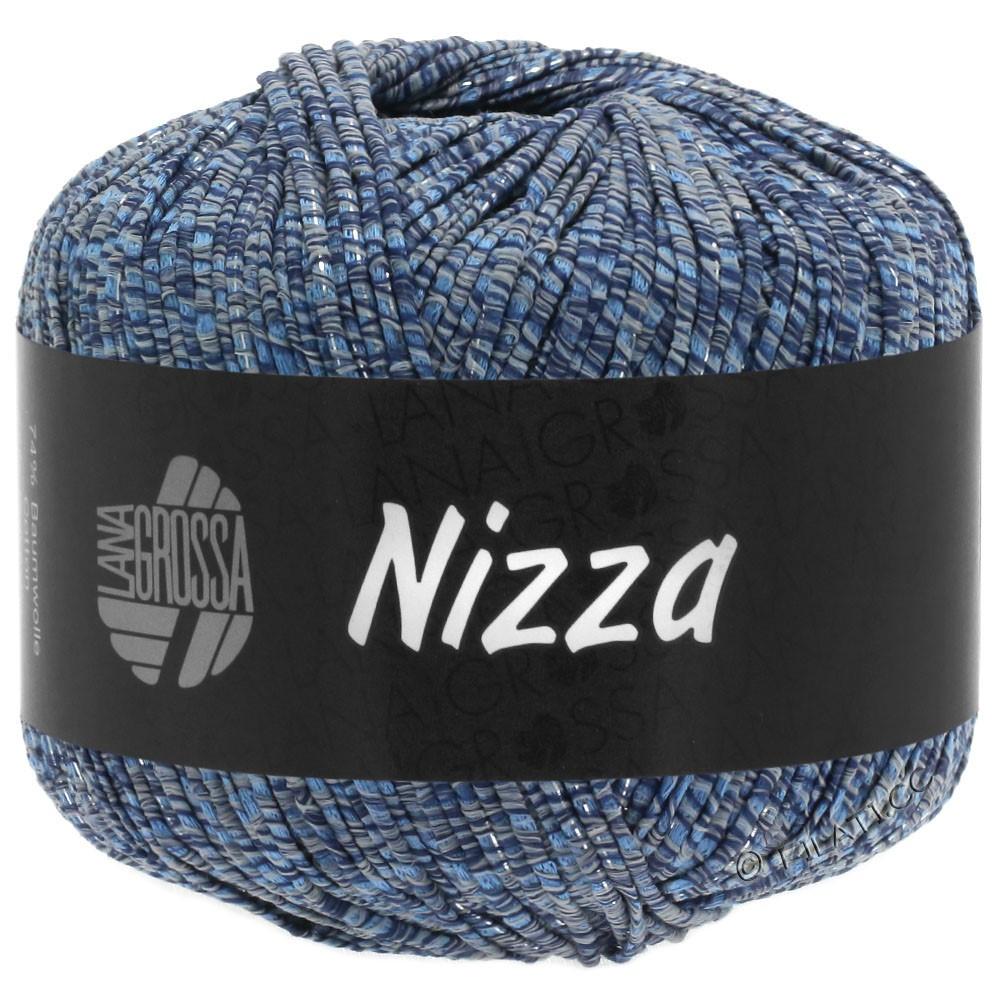 Lana Grossa NIZZA | 06-gray blue/navy/silver