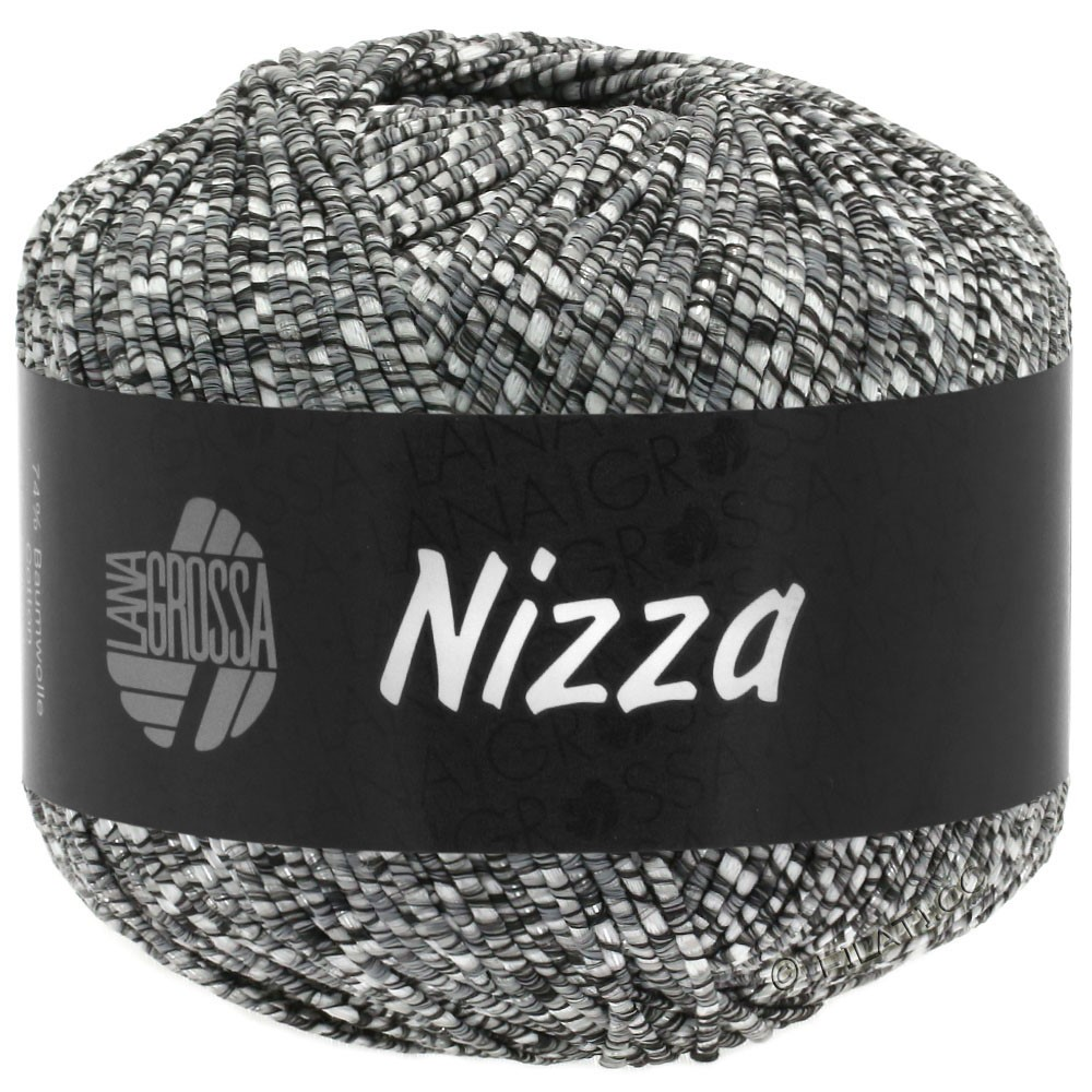 Lana Grossa NIZZA | 11-natural/dark gray/silver