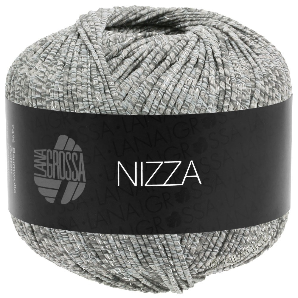 Lana Grossa NIZZA | 13-white/gray/beige/silver
