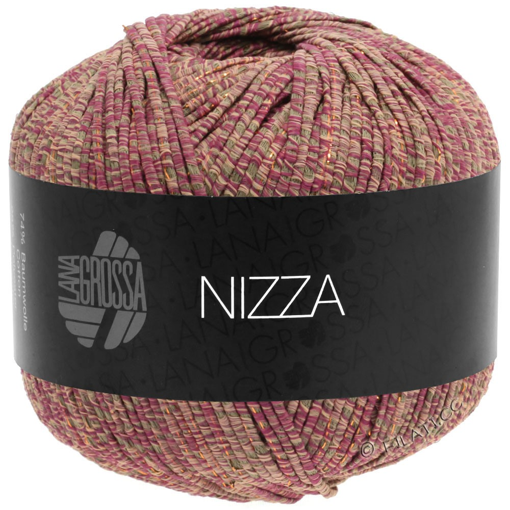 Lana Grossa NIZZA | 15-orient red/taupe/rose/gold