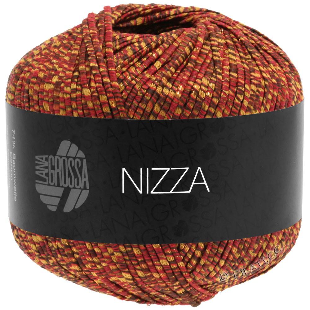 Lana Grossa NIZZA | 16-burgundy/mustard yellow/gold