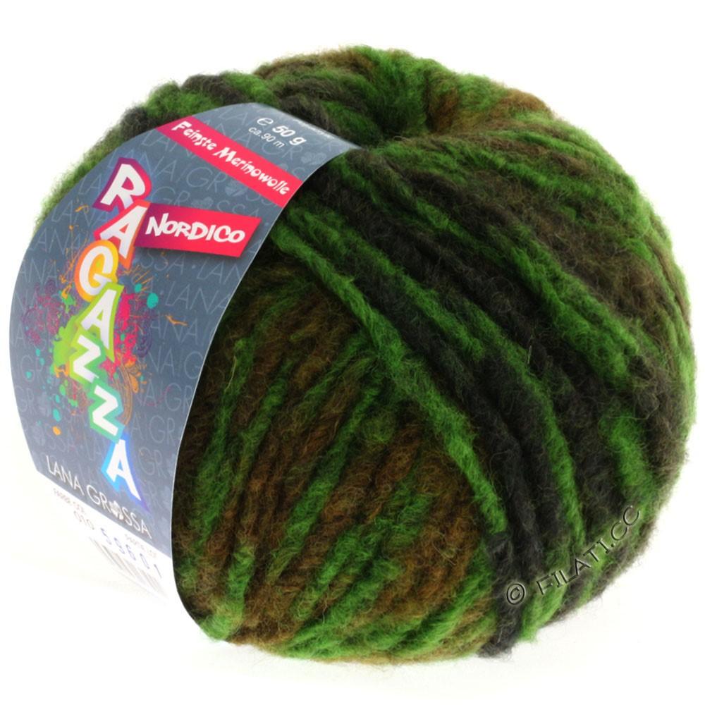 Lana Grossa NORDICO (Ragazza)   10-green/khaki/mud