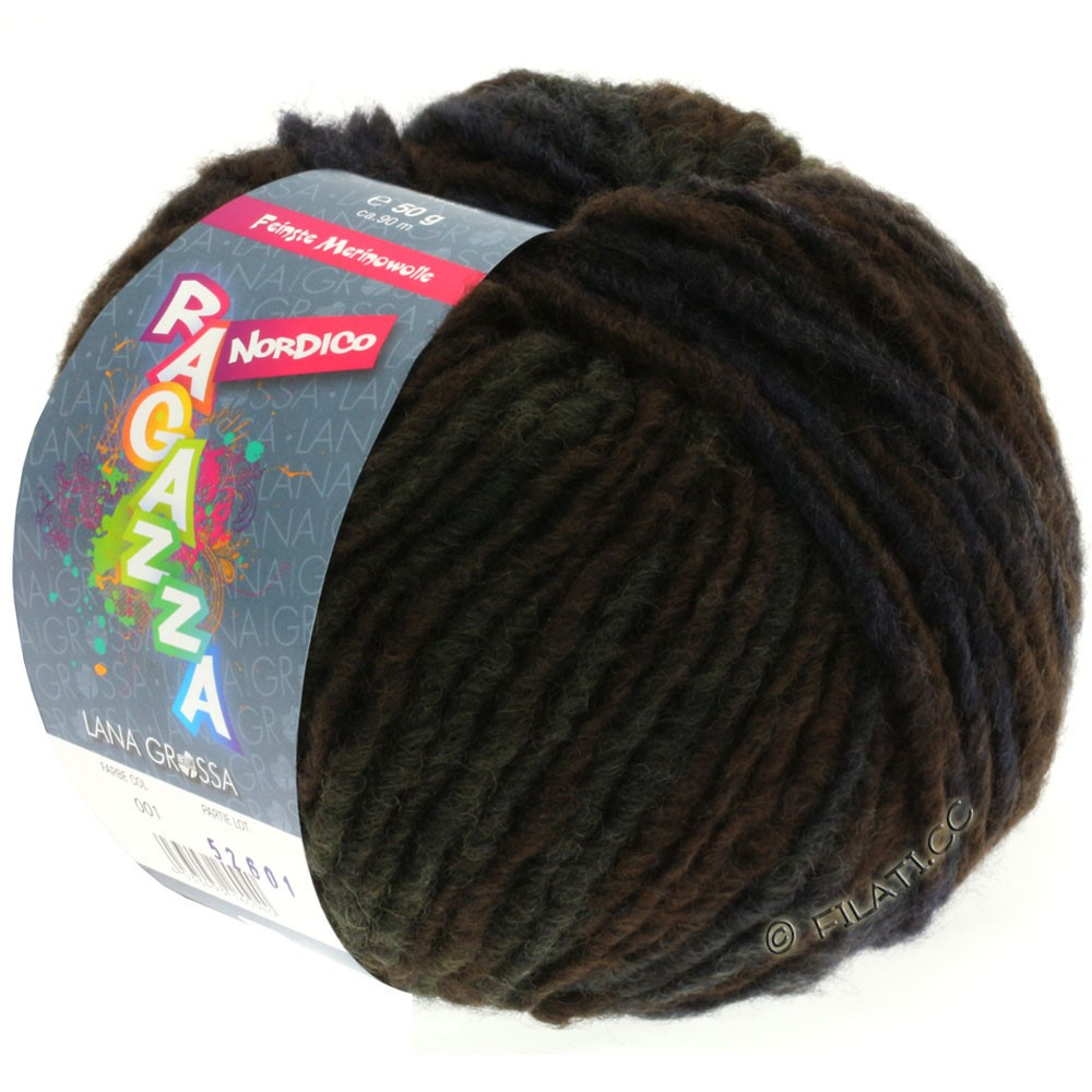 Lana Grossa NORDICO (Ragazza)   14-mocha/gray brown/golden brown/gray blue