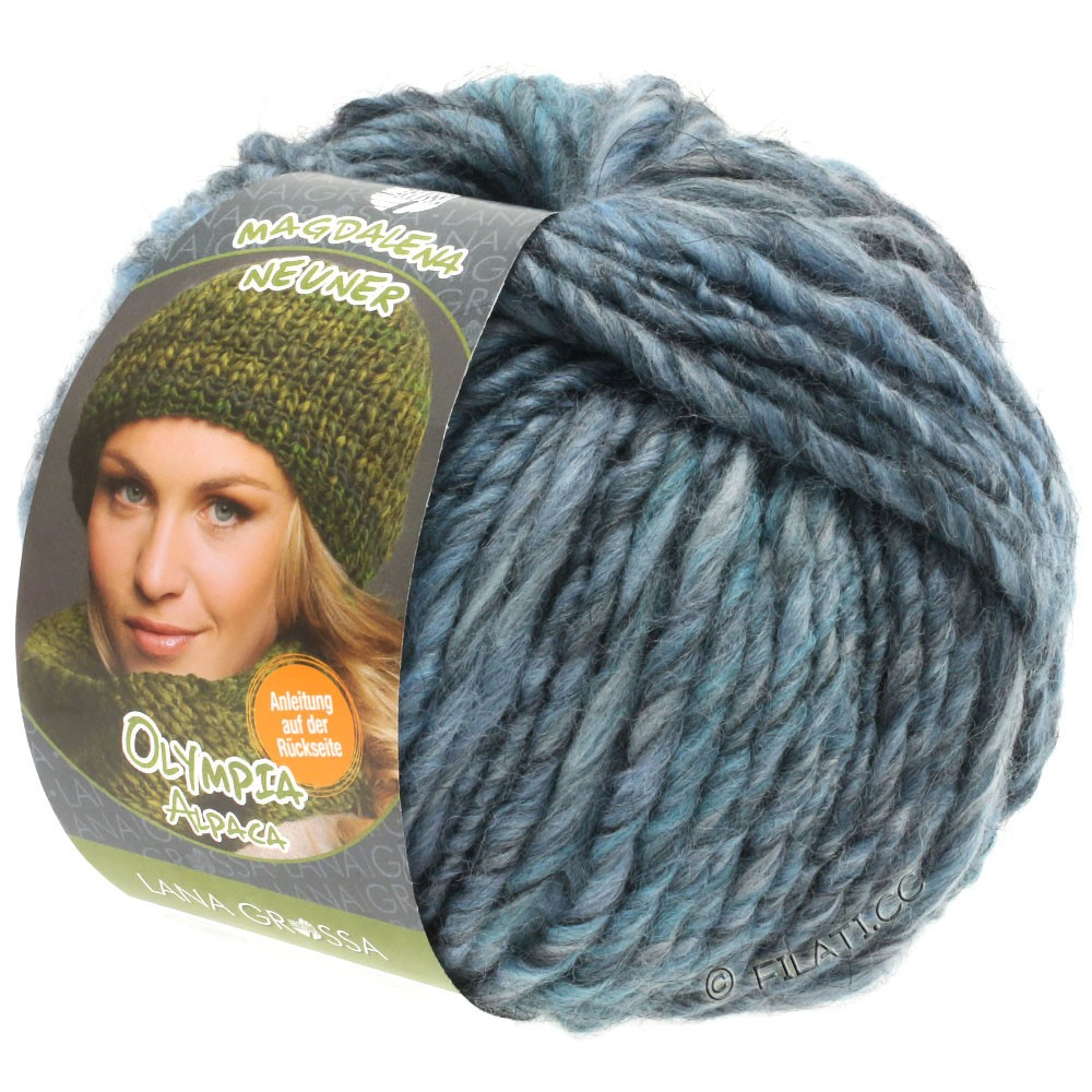 Lana Grossa OLYMPIA Alpaca | 901-light blue/gray blue/jeans mottled
