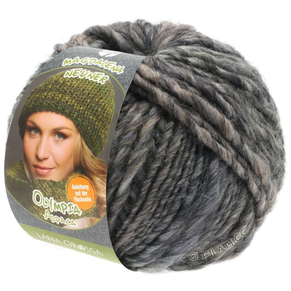 Lana Grossa OLYMPIA Alpaca | 908-taupe/dark gray mottled