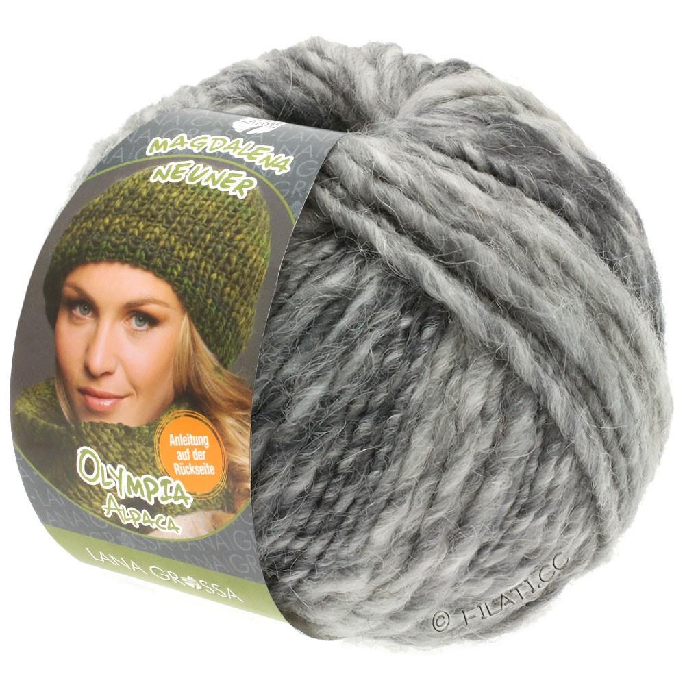 Lana Grossa OLYMPIA Alpaca | 910-silver gray/light gray/medium gray mottled