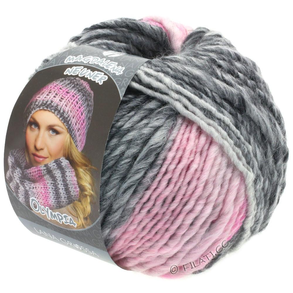 Lana Grossa OLYMPIA Grey | 801-dark gray/light gray/rose/pink