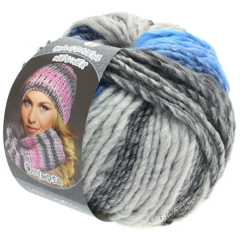 Lana Grossa OLYMPIA Grey | 802-dark gray/light gray/jeans/cornflower