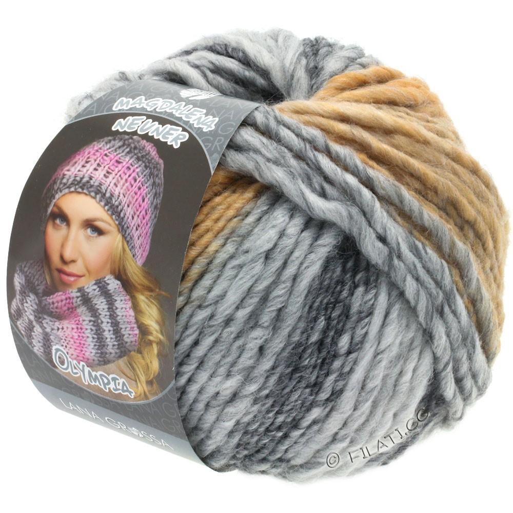 Lana Grossa OLYMPIA Grey | 806-dark gray/light gray/pale gray/beige/camel