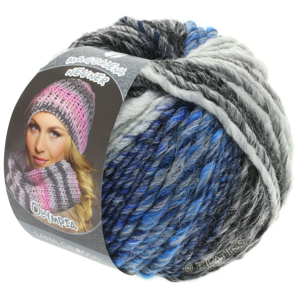 Lana Grossa OLYMPIA Grey | 809-anthracite/dark gray/light gray/jeans mottled