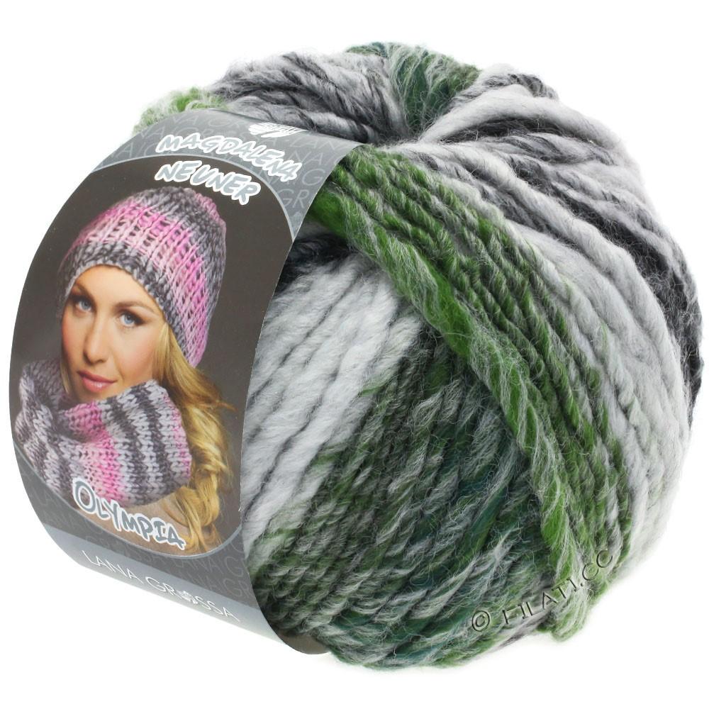 Lana Grossa OLYMPIA Grey | 811-anthracite/dark gray/light gray/moss green mottled