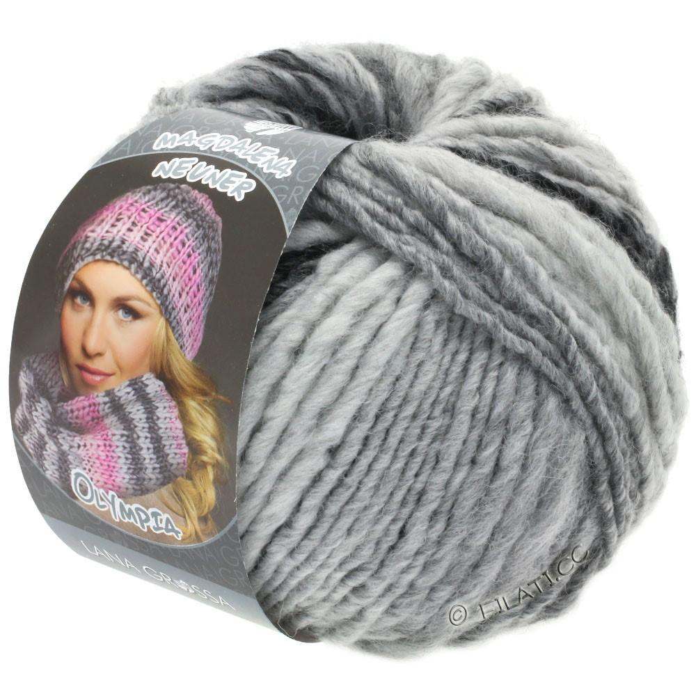 Lana Grossa OLYMPIA Grey | 812-anthracite/dark gray/light gray/silver gray
