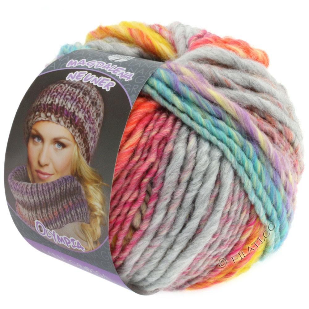 Lana Grossa OLYMPIA Pastello | 604-yellow/orange/pink/light green/turquoise/gray