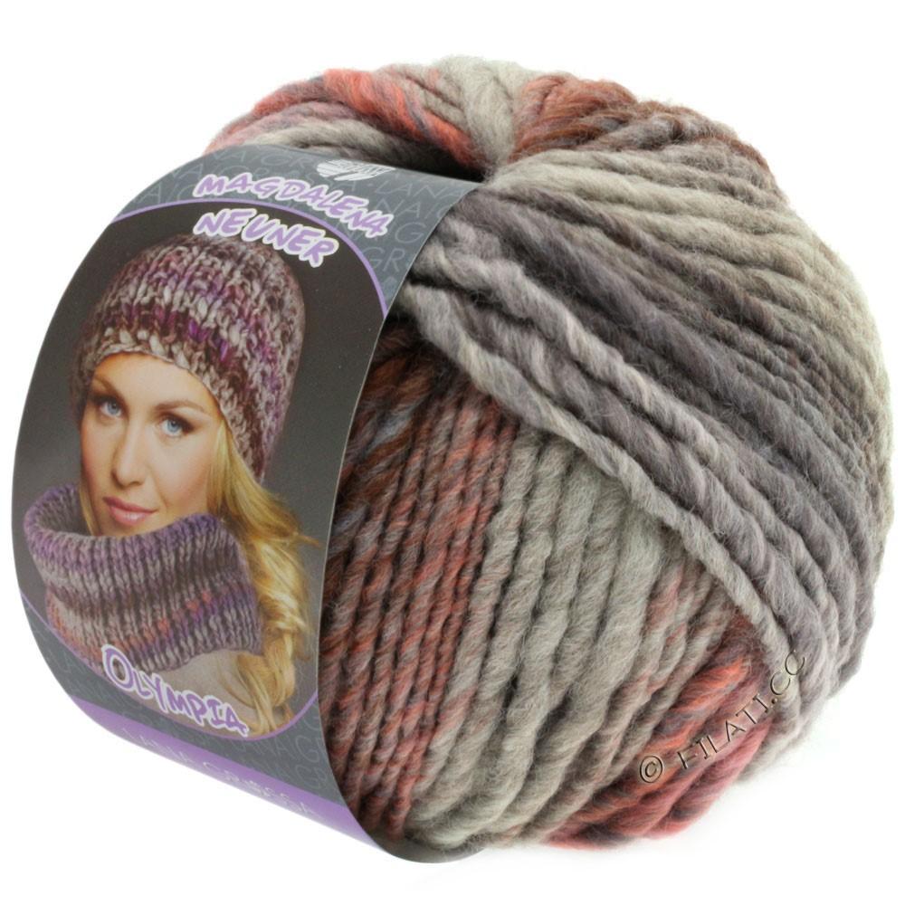 Lana Grossa OLYMPIA Pastello | 607-rose/lilac/brown/gray lilac/light gray