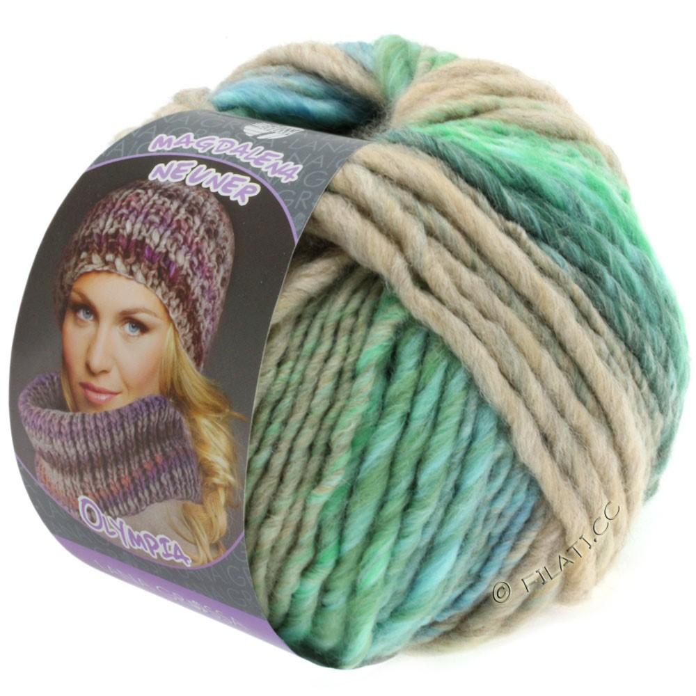 Lana Grossa OLYMPIA Pastello | 608-light green/dark green/light blue/cobalt blue/beige/mint