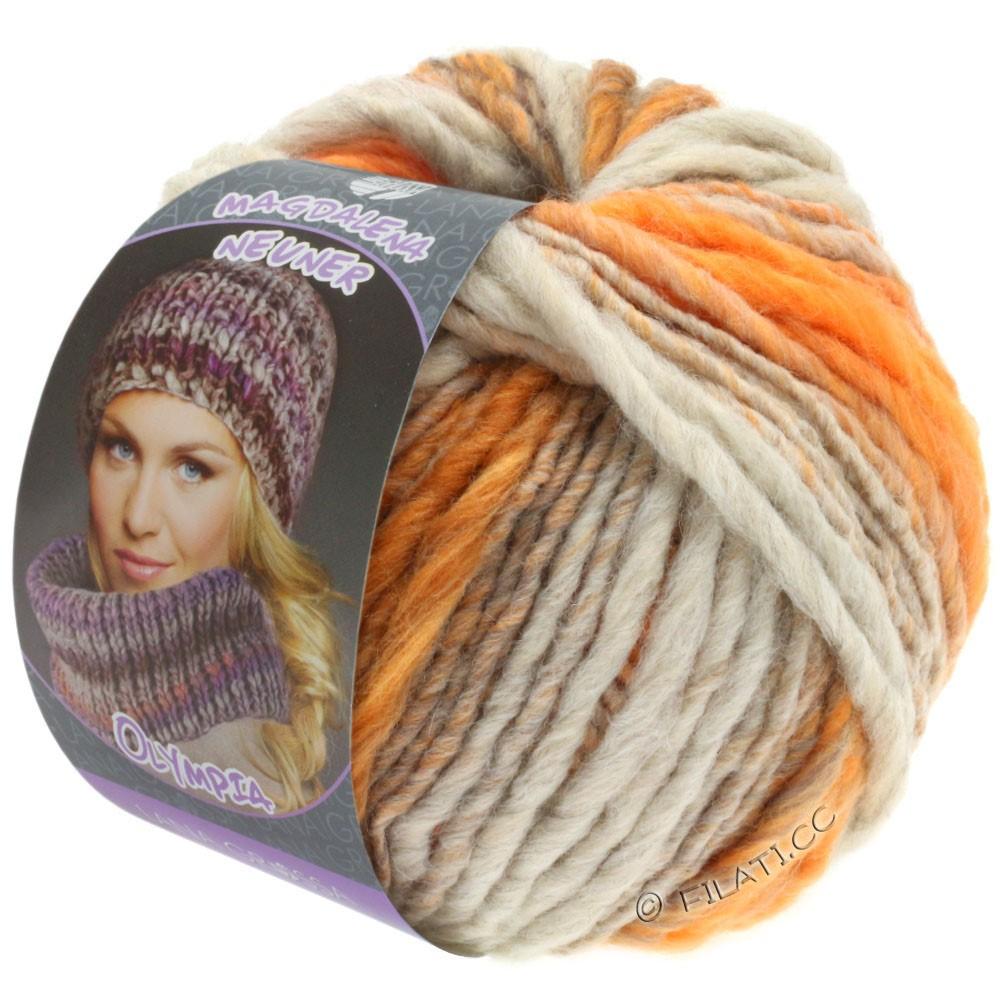 Lana Grossa OLYMPIA Pastello | 611-light gray/orange/brown orange/gray orange