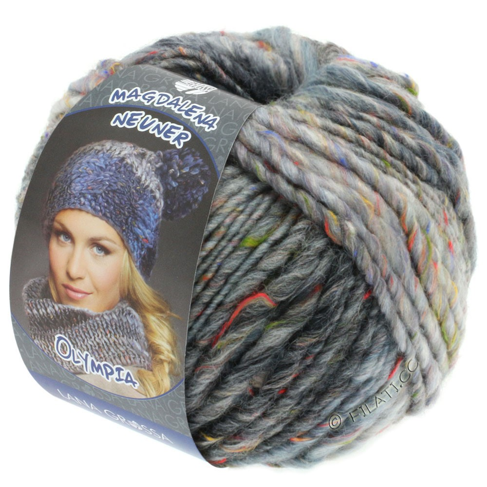 Lana Grossa OLYMPIA Tweed | 701-light gray/medium gray/dark gray mottled