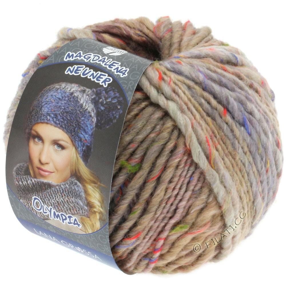 Lana Grossa OLYMPIA Tweed | 703-beige/lilac/gray mottled