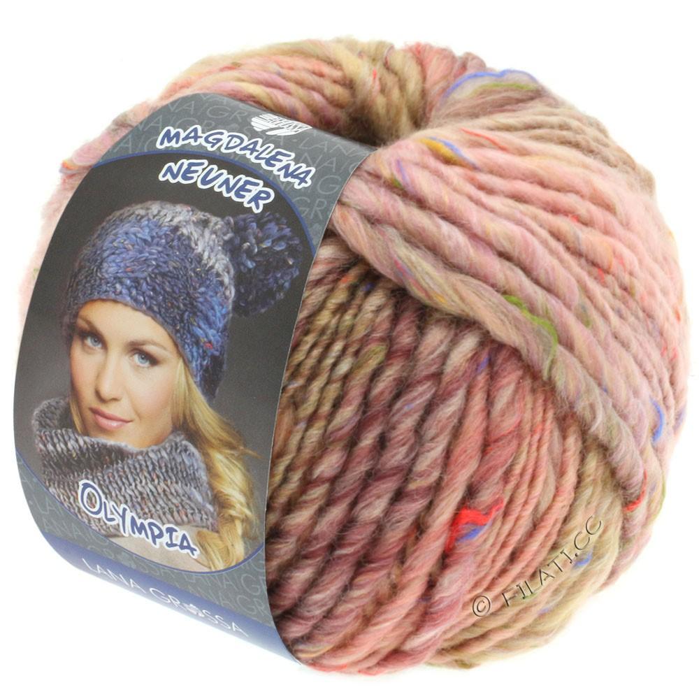 Lana Grossa OLYMPIA Tweed | 704-rose/beige/camel mottled