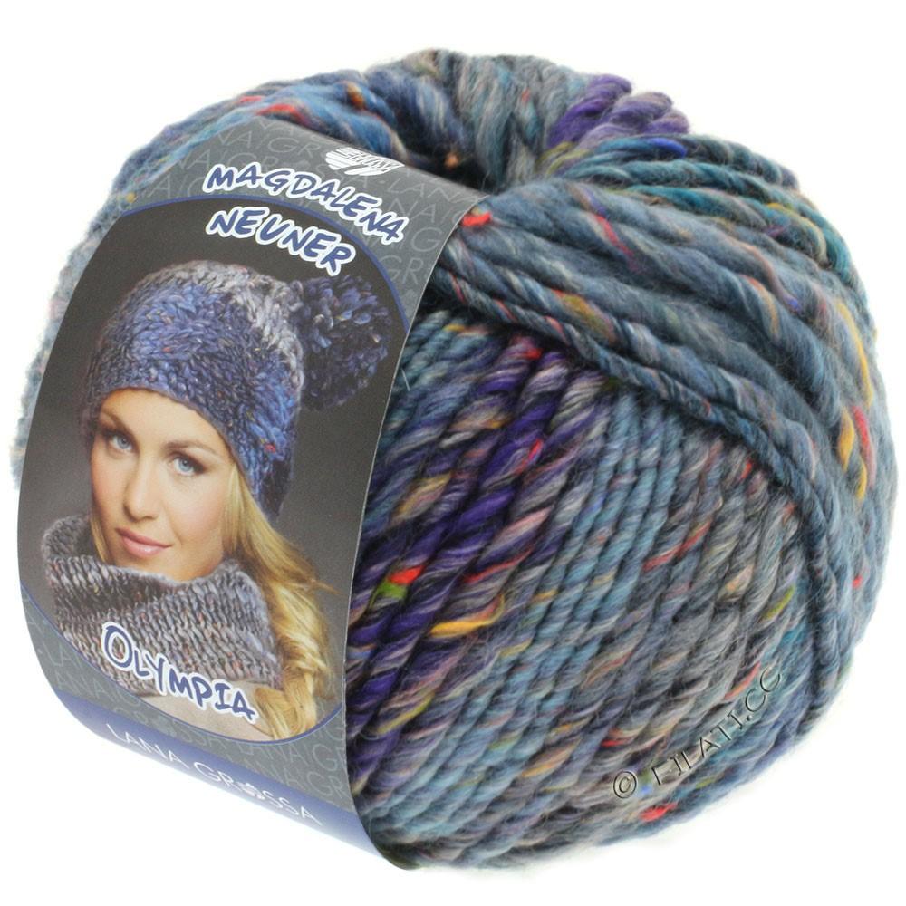 Lana Grossa OLYMPIA Tweed | 705-light blue/jeans/navy/violet mottled
