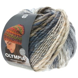 Lana Grossa OLYMPIA Classic | 026-raw white/light gray/medium gray/dark gray/taupe