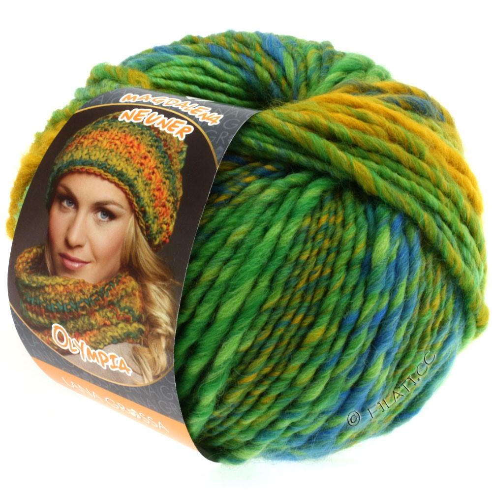 Lana Grossa OLYMPIA Classic | 041-yellow green/turquoise green/blue/maize yellow/petrol