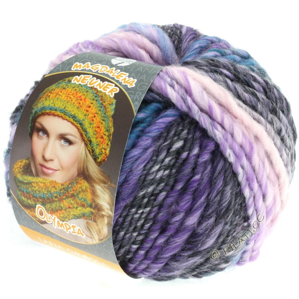 Lana Grossa OLYMPIA Classic | 046-light blue/jeans/anthracite/purple/pink/lilac/orange/gray