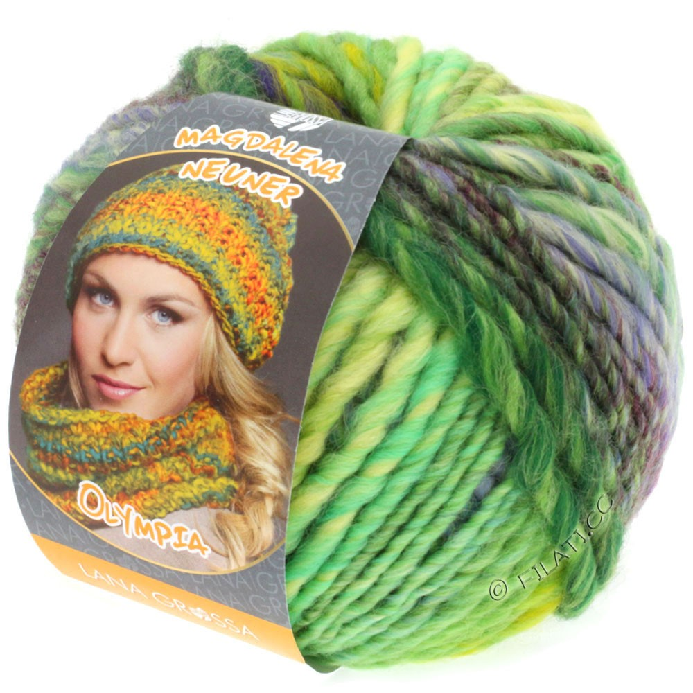 Lana Grossa OLYMPIA Classic | 051-light green/emerald/purple/dark green/red purple/green yellow
