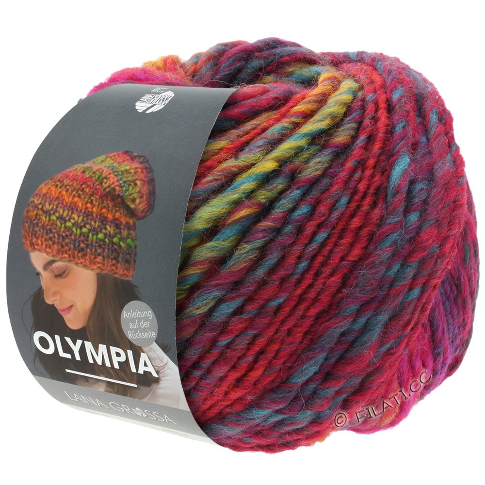 Lana Grossa OLYMPIA Classic | 062-red/blue/petrol/light green/dark red